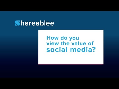 How do you view the value of social media?