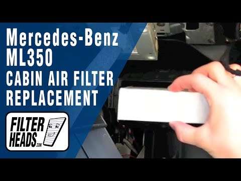 How To Replace Cabin Air Filter Mercedes Benz Ml350