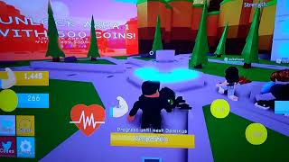 Getting strong at Roblox