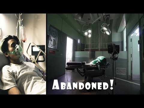 Exploring an ABANDONED HOSPITAL WITH POWER STILL ON ! - RAN INTO ILLNESS INCIDENT?!