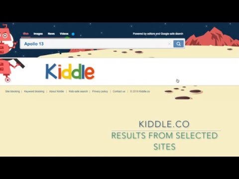 60 Second Tour of Kiddle co - Kid Safe Search Engine - YouTube
