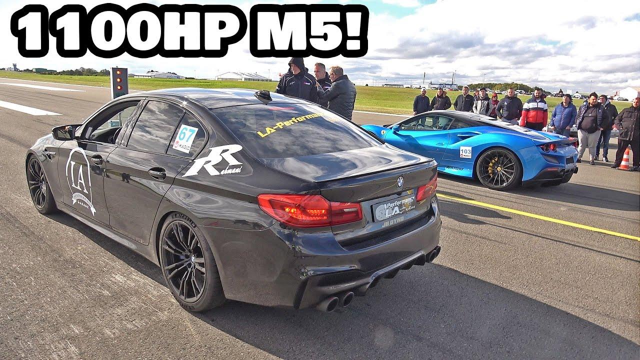 MOST POWERFUL M5 F90 IN THE WORLD! BMW M5 F90 LA Performance (1100HP) vs Ferrari F8 Tributo (720HP)