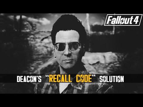 "Fallout 4 - Deacon's Recall Code ""Bug / Glitch"" Solution"