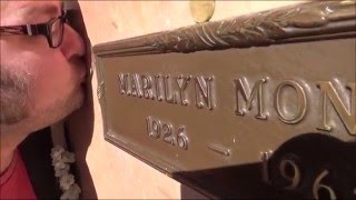 Kissing Marilyn Monroes Grave