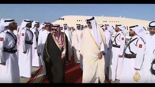 الملك سلمان يصل الدوحة في إطار جولته الخليجية