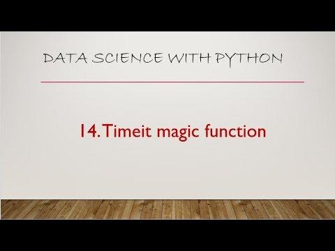 14 Timeit Magic Function Jupyter Notebook
