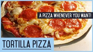Tortilla Pizza - Recipe - how to cook a pizza whenever you want! | GAF Show