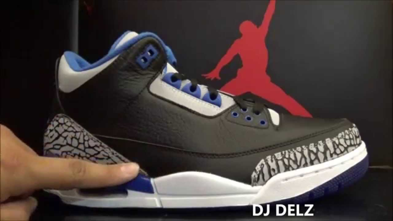 fcce0bfc0f2 Air Jordan 3 Sport Blue Black 3s Sneaker Review With Dj Delz + On Foot 2014  III