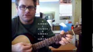 How to play Trouble by Ray LaMontagne on acoustic guitar