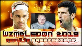 Wimbledon 2019 - Semifinal Results and Final Predictions