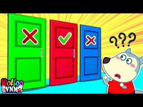 Wolfoo tham gia thử thách cánh cửa bí ẩn cùng bố ✅❌| Phim hoạt hình Wolfoo tiếng Việt