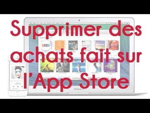 Supprimer vos musiques, apps, films et livres de vos Achats sur l'App Store