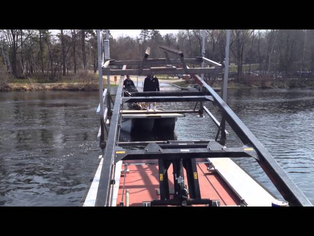 Forked Barge - Boat Lift Transfer