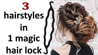 3 Easy and quick hairstyles with using magic hair lock