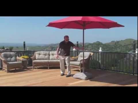 Shademobile Ru22 6000 125 Lb Rolling Umbrella Base Youtube