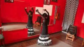 How to Dance Flamenco For Beginners Sevillanas | Simple steps, footwork, hand and arm movements