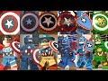 Captain America Evolution in Lego Marvel Videogames!!!