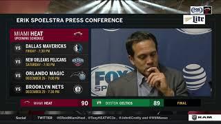 Erik Spoelstra -- Miami Heat at Boston Celtics 12/20/17