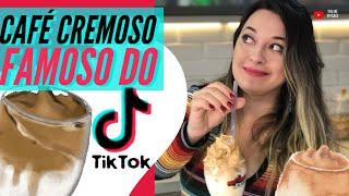 COMO FAZER DALGONA COFFEE, o CAFÉ CREMOSO FAMOSO do TIK TOK! TESTANDO RECEITAS #3