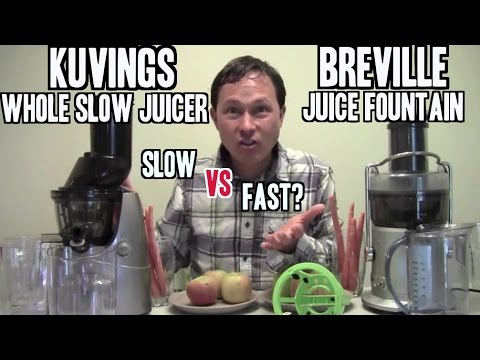 Breville Juice Fountain vs Kuvings Whole Slow Juicer Comparison Review