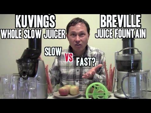 Breville Juice Fountain vs Kuvings Whole Slow Juicer Comparison Review