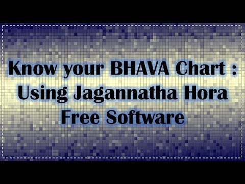 Know Your Bhava Chart Using Jagannatha Hora Free Software Youtube