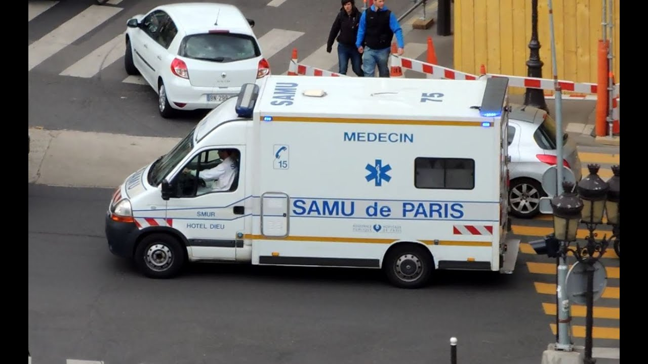 Ambulance de samu hotel dieu en urgence paris 2 youtube - Playmobil samu ...
