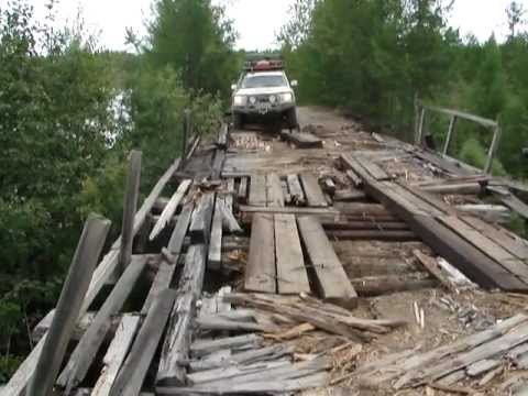 DANGEROUS ROAD BRIDGE Siberia Russia – Toyota Land Cruiser 200 V8