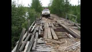 DANGEROUS ROAD BRIDGE Siberia Russia - Toyota Land Cruiser 200 V8
