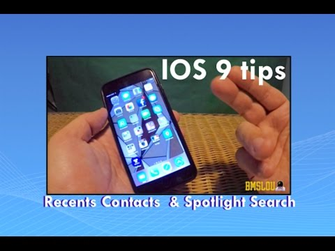 Ios Tip Or Trick On Recent Contacts Spotlight Search News
