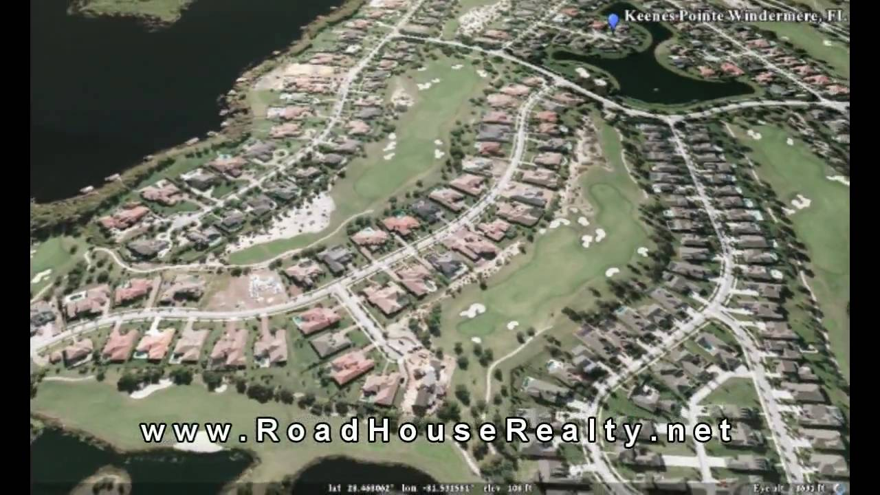 Keenes Pointe Windermere Fl 3 D Google Earth Tour Youtube