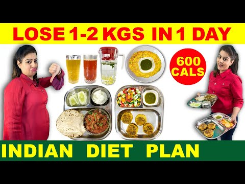 Lose 1 Kg - 2 Kg in 1 Day | Easy Diet Plan to Lose Weight Fast | Indian Diet Plan by Natasha Mohan