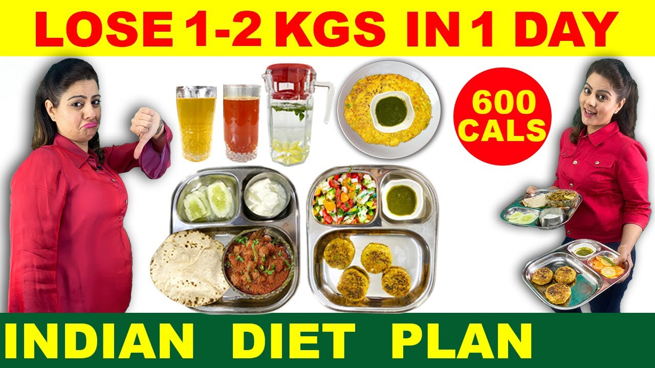 Lose 1 Kg – 2 Kg in 1 Day   Easy Diet Plan to Lose Weight Fast   Indian Diet Plan by Natasha Mohan