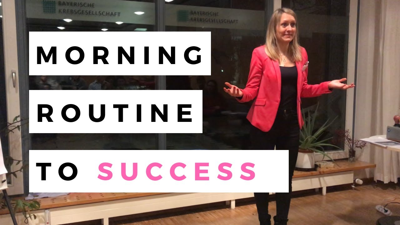 Toastmasters Motivational Speech: MORNING ROUTINE / Start your day healthy, productive & successful