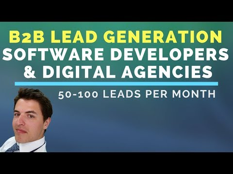 B2B Lead Generation for Software Developers & Digital Agencies (50-100 leads a month)