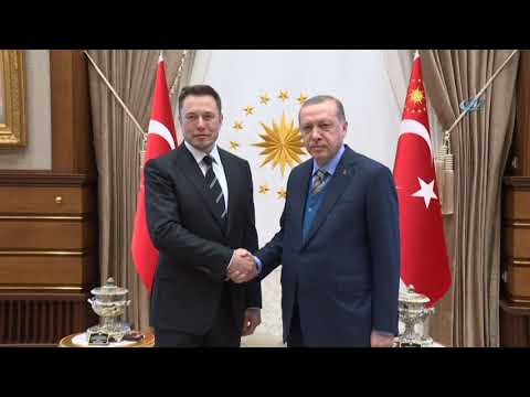 Cumhurbaşkanı Erdoğan, Space X Şirketinin Kurucusu Elon Musk'u Kabul Etti