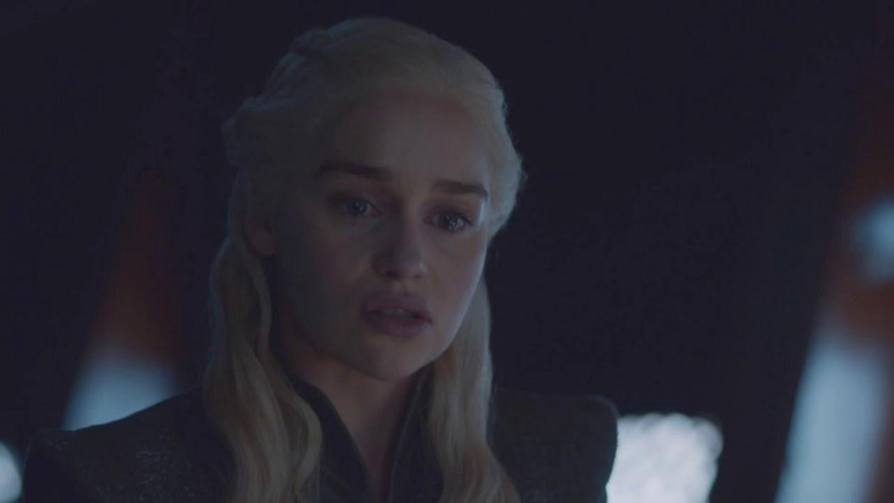 Game of Thrones 7x06 Daenerys Targaryen see Jon Snow's scars