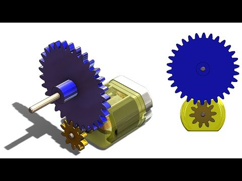 SolidWorks G Tutorial #329 : spur gears basics (design, layout, inserting, mating and animation)