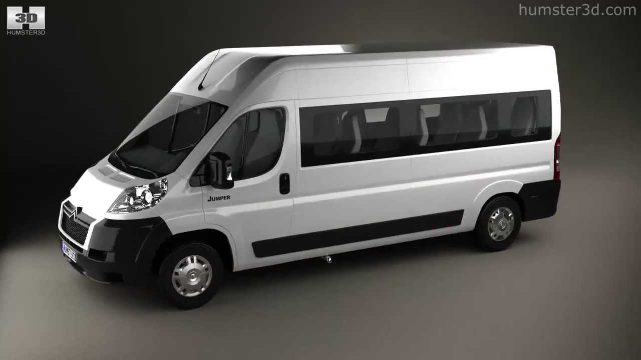 Citroen Jumper Passenger Van 2012 By 3d Model Store