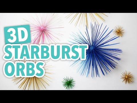 3D Starburst Orbs - HGTV Handmade