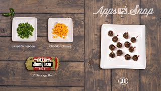 Jimmy Dean Jalapeño Sausage Cheese Apps #appsinasnap