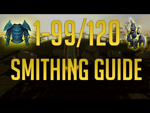 Runescape 3 - 1-99/120 Smithing guide 2019