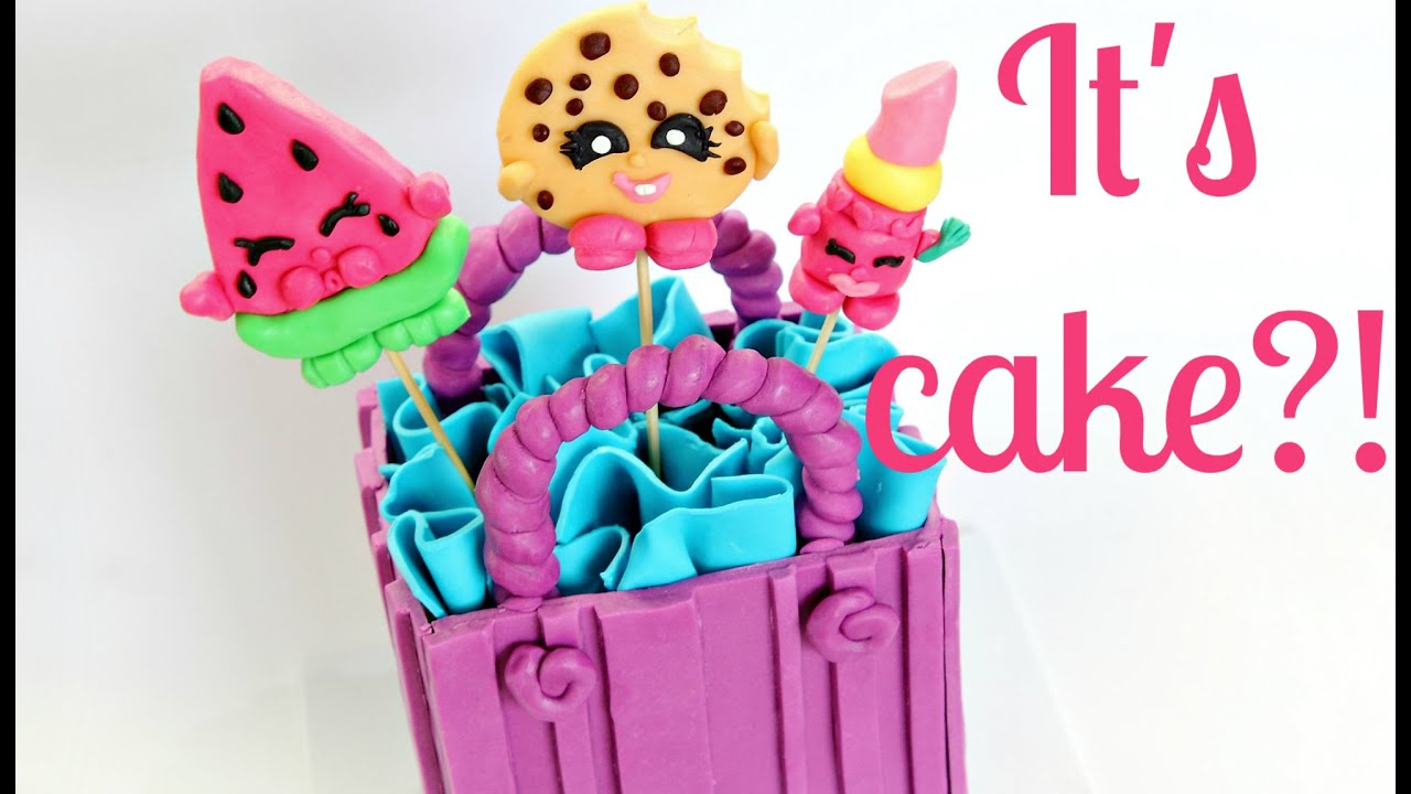 Nice Shopkins Cake ~ Edible Melonie Pips, Kooky Cookie U0026 Lippy Lips   CAKE STYLE    YouTube