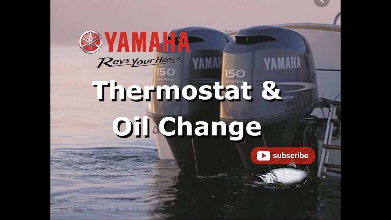 changing outboard 150 yamaha thermostats and oil change [ 1280 x 720 Pixel ]