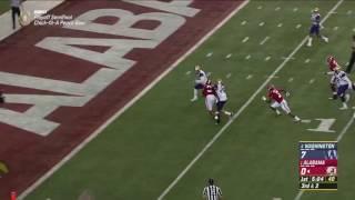 Alabama Crimson Tide Running Back Bo Scarbrough Touchdown Run vs Washington