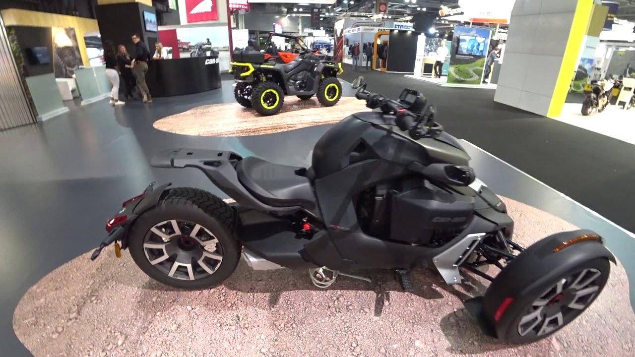 brp can am riker 600 et 900 au mondial de la moto 2018. Black Bedroom Furniture Sets. Home Design Ideas