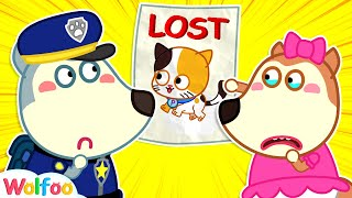 Download lagu Police Wolfoo Helps Lucy Find Her Lost Cat | Wolfoo Channel Kids Cartoon