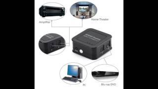 TOSLINK/SPDIF Digital Optical Audio Splitter 1 In to 3 Out Splitter 3-Way Signal Amplifier - Tomoson