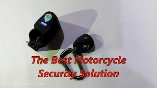 CHEAP AND BEST ALARM / SECURITY SYSTEM WITH REMOTE FOR MOTORCYCLE /  BICYCLES