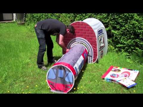 kids tube play tent set up & kids tube play tent set up - YouTube